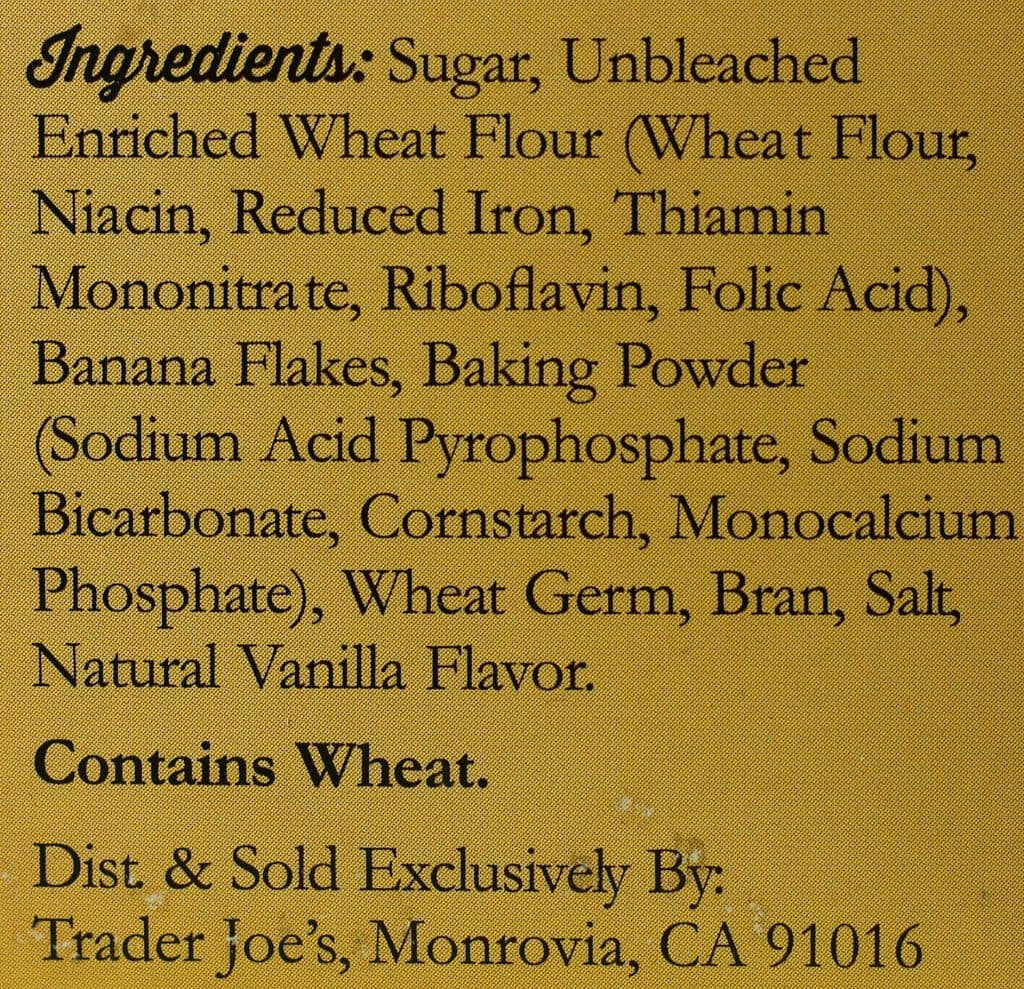 Trader Joe's Banana Bread Mix ingredients