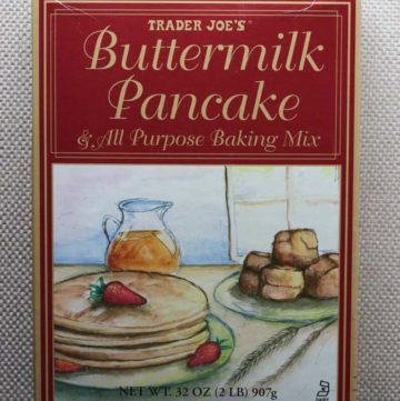 Trader Joe's Buttermilk Pancake and All Purpose Baking Mix box