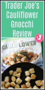 Trader Joes Cauliflower Gnocchi pin for Pinterest