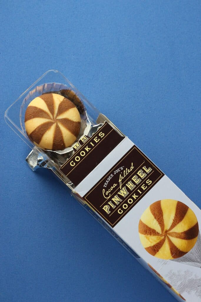 Trader Joe's Cocoa Filled Pinwheel Cookies out of the box