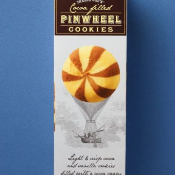 Trader Joe's Cocoa Filled Pinwheel Cookies box