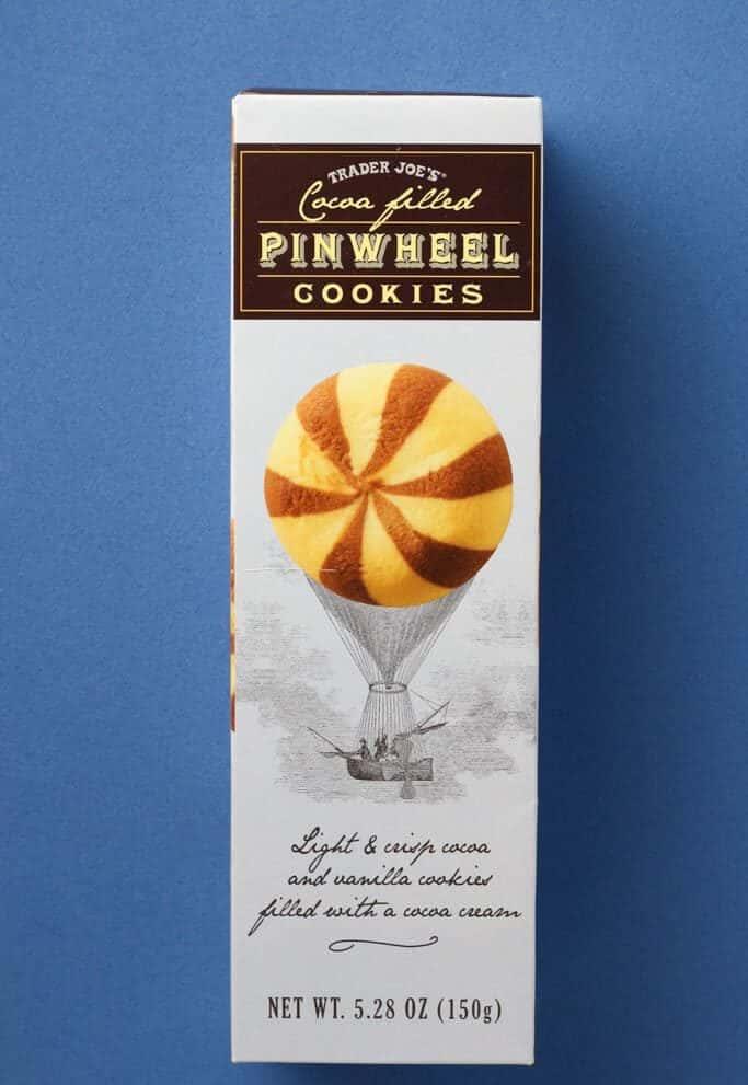 Trader Joe's Cocoa Filled Pinwheel Cookies box