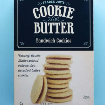 Trader Joe's Cookie Butter Sandwich Cookies box