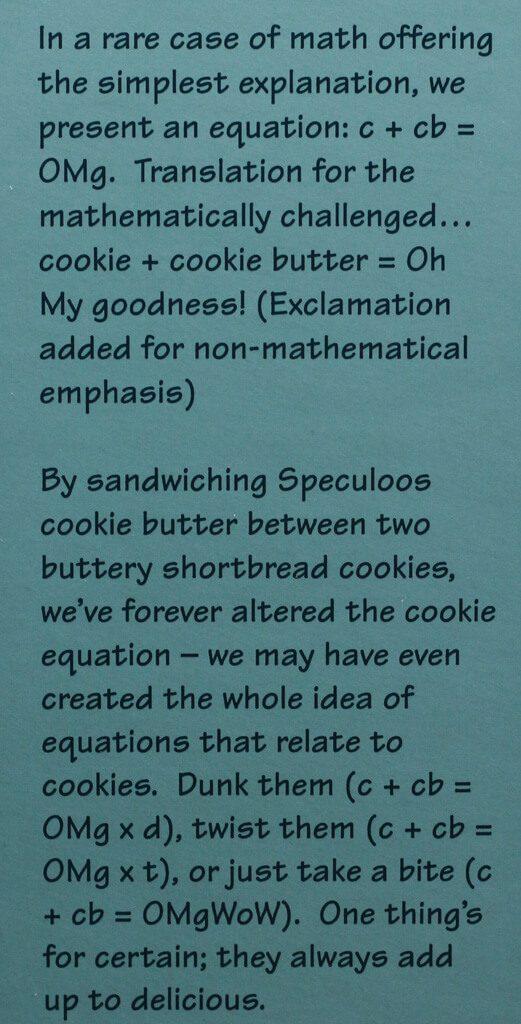 Trader Joe's Cookie Butter Sandwich Cookies description