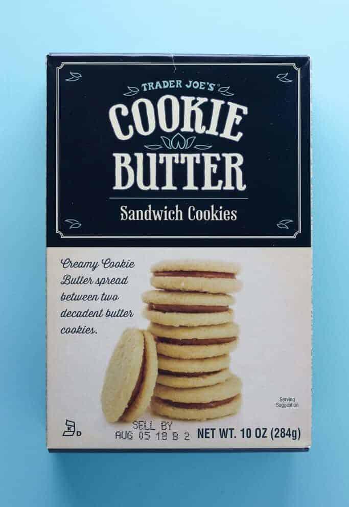 Trader Joe's Cookie Butter Sandwich Cookies box