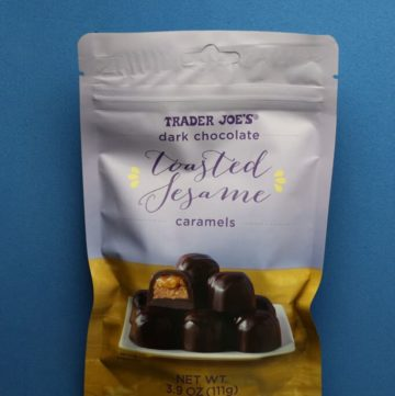 Trader Joe's Dark Chocolate Toasted Sesame Caramels bag