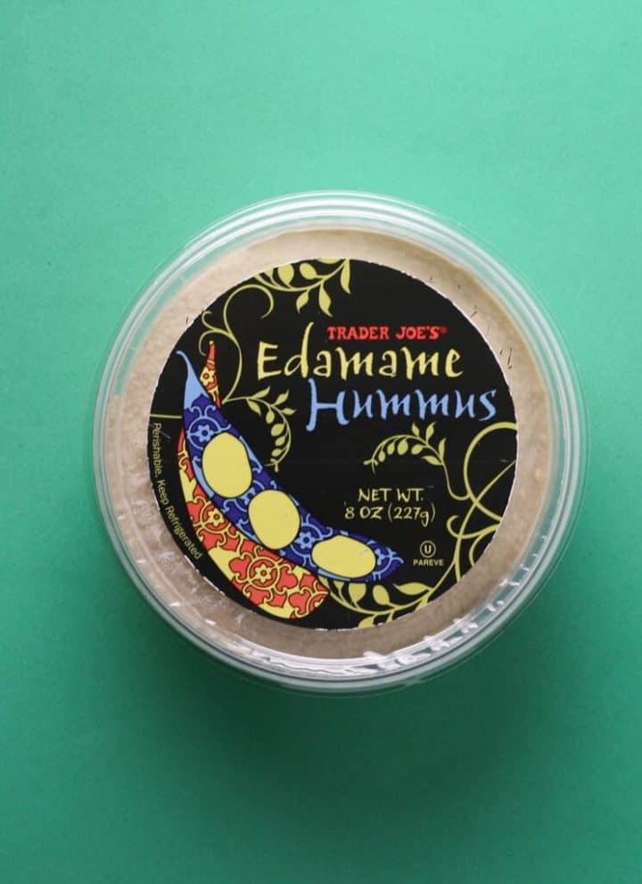 Trader Joe's Edamame Hummus package
