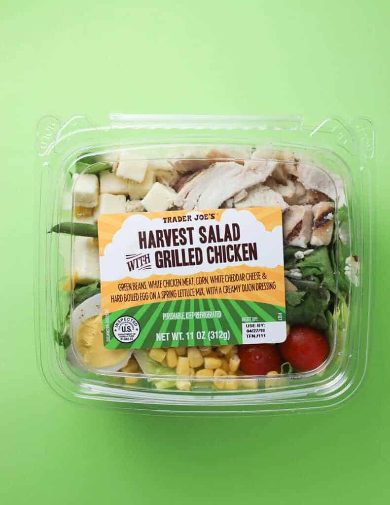 Trader Joe's Harvest Salad with Grilled Chicken package