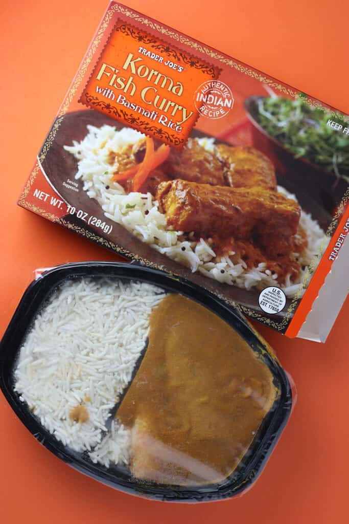 Trader Joe's Korma Fish Curry out of the box