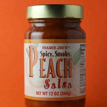 Trader Joe's Peach Salsa jar