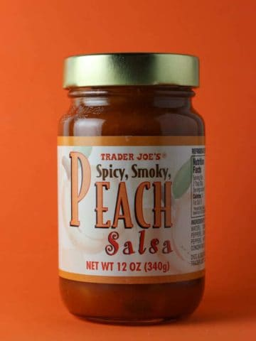 Trader Joe's Peach Salsa jar