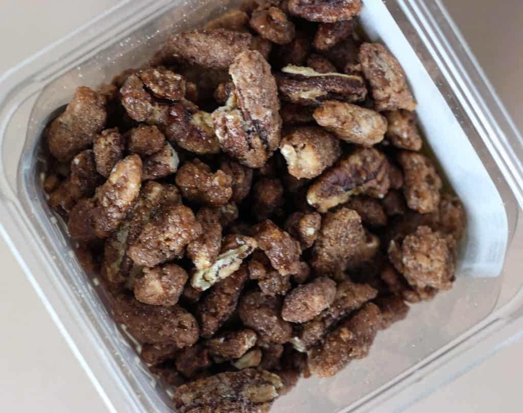 Trader Joe's Pecan Pralines in the container