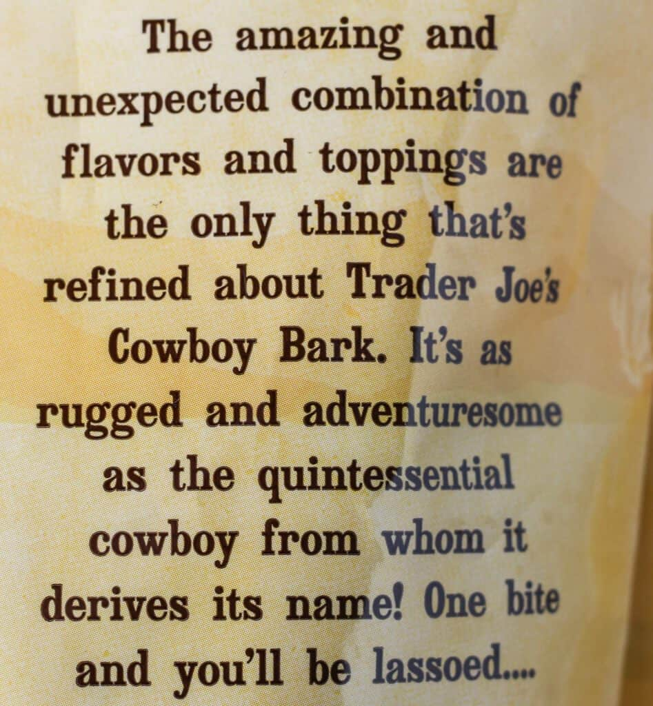 Trader Joe's Ruggedly Adventuresome Cowboy Bark description
