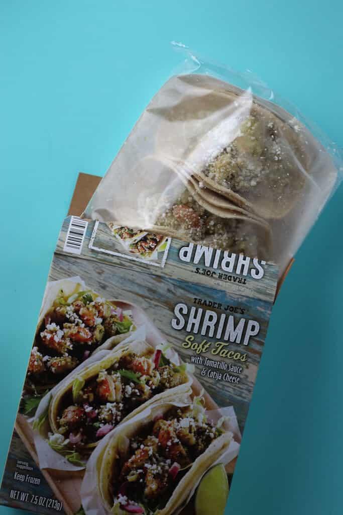 Trader Joe's Shrimp Soft Tacos out of the box