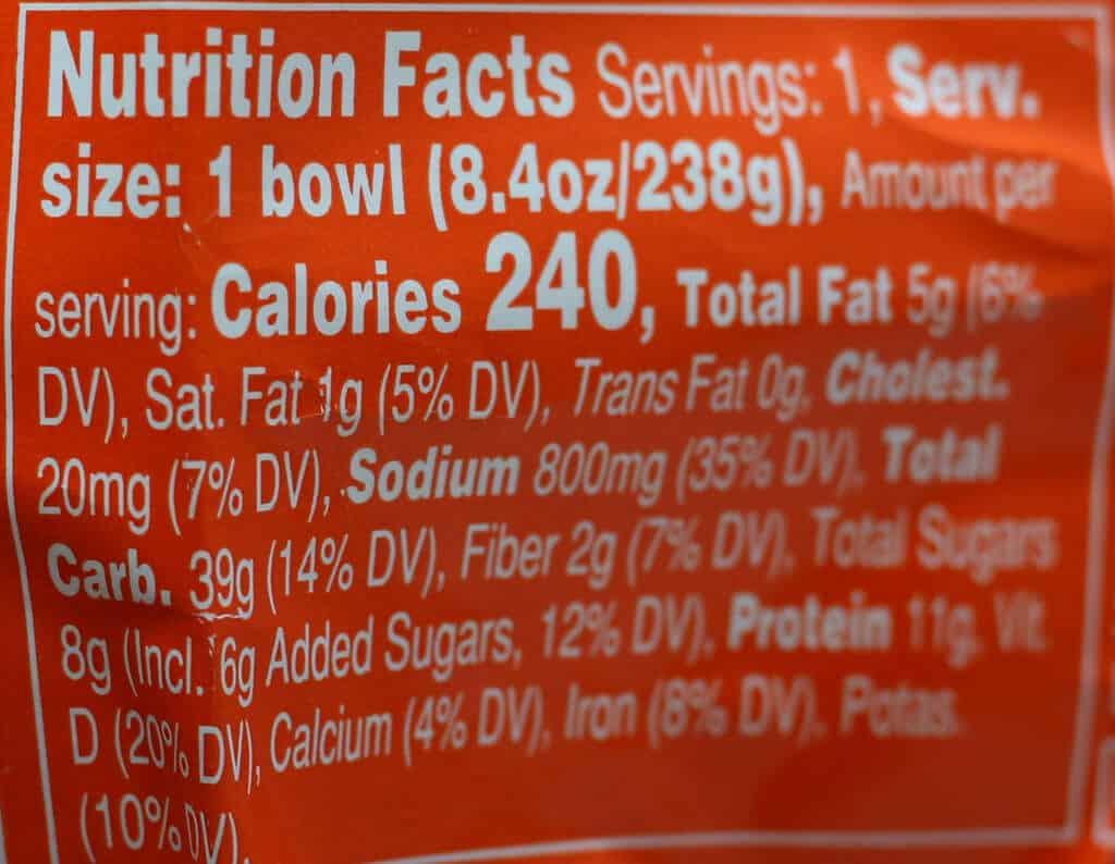 Trader Joe's Smoked Salmon Poke Bowl nutrition facts