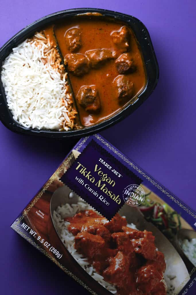 Trader Joe's Vegan Tikka Masala finished