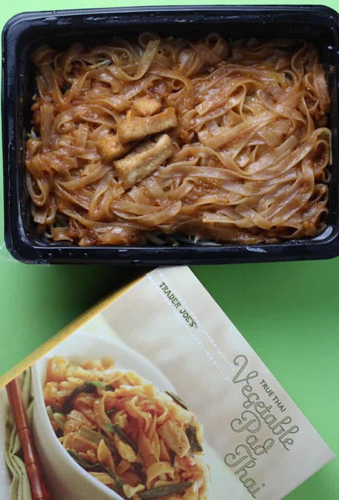 Trader Joe's Vegetable Pad Thai after being microwaved