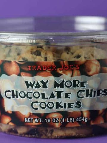 Trader Joe's Way More Chocolate Chips Cookies box