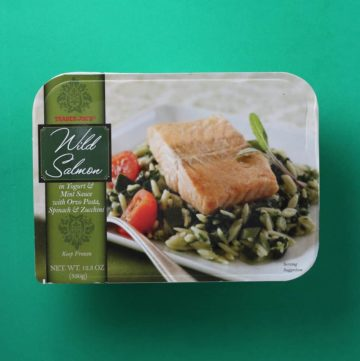 Trader Joe's Wild Salmon in Yogurt and Mint Sauce