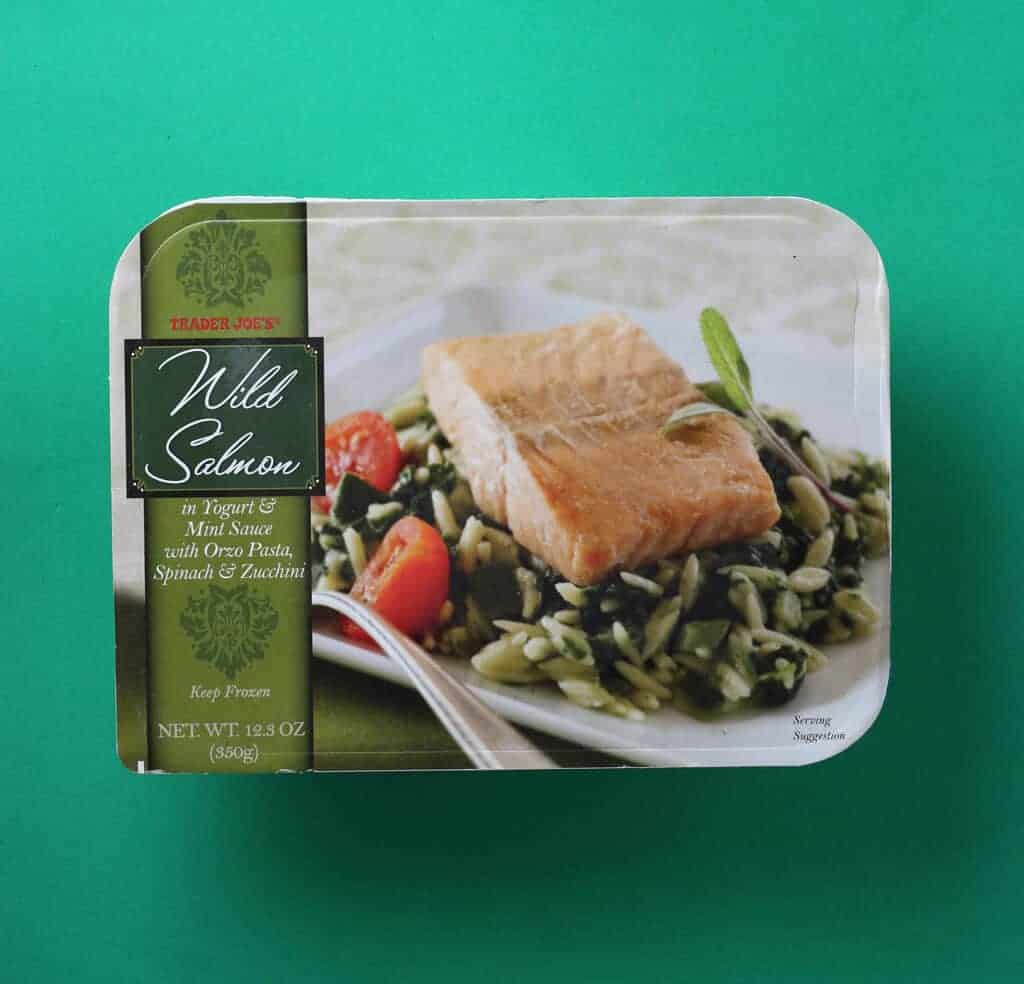 Trader Joe's Wild Salmon in Yogurt Mint Sauce