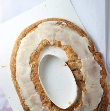 O and H Danish Bakery Raspberry Kringle out of the package