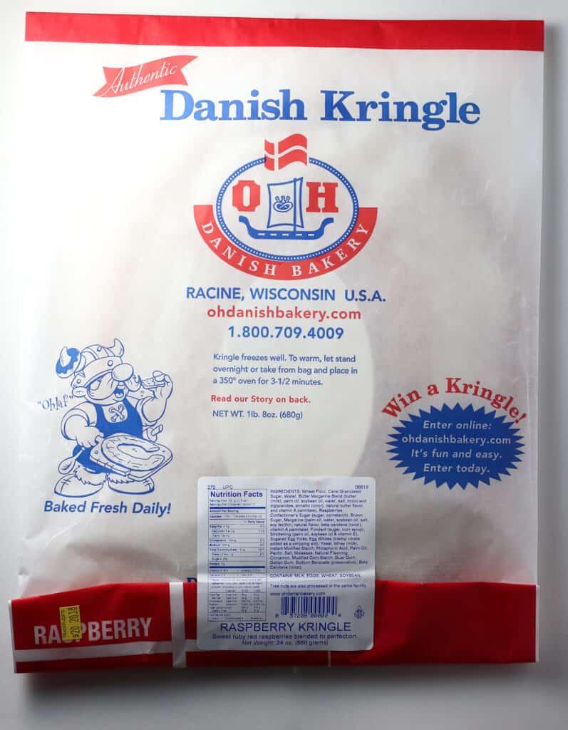 O and H Danish Bakery Raspberry Kringle package