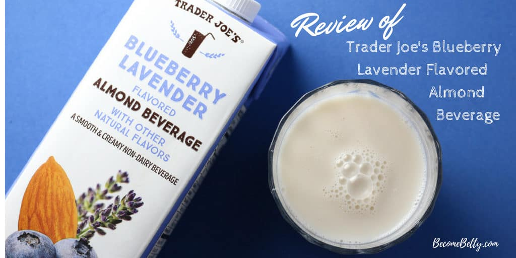Trader Joe's Blueberry Lavender Almond Beverage