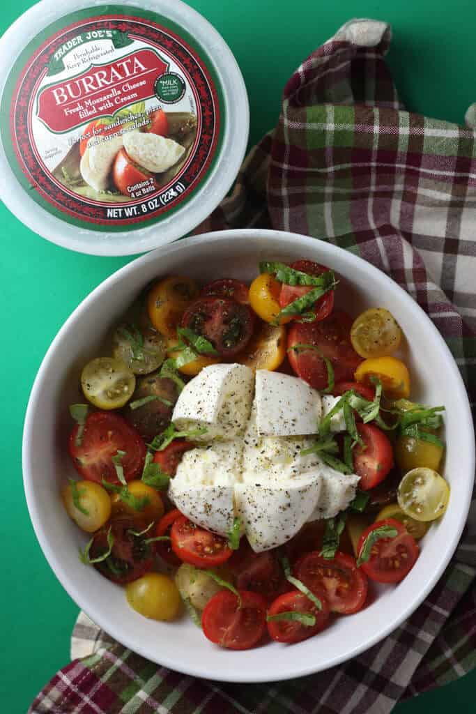 Trader Joe's Burrata out of the package