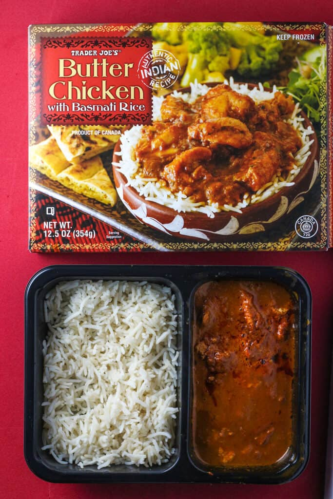 Trader Joe's Butter Chicken microwaved and ready to eat