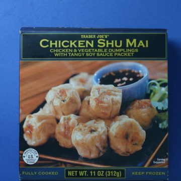 Trader Joe's Chicken Shu Mai box
