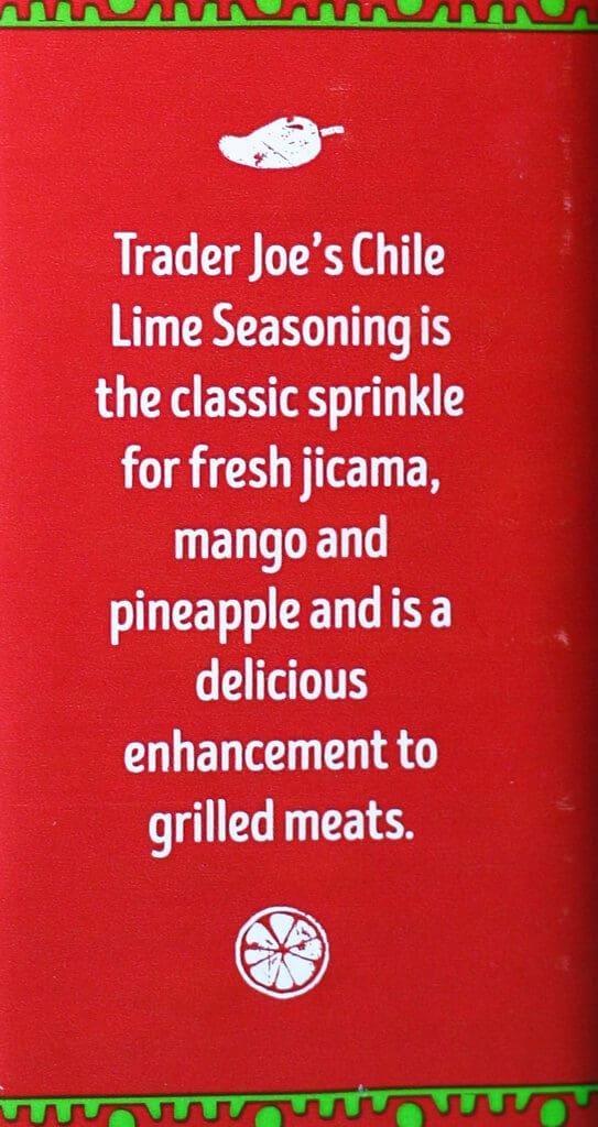 Trader Joe's Chile Lime Seasoning Blend description