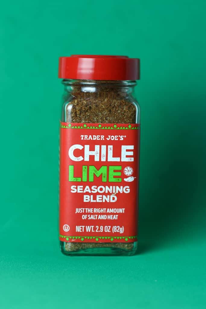 Trader Joe's Chile Lime Seasoning Blend jar
