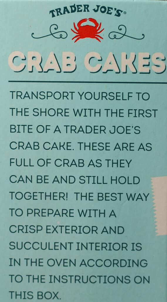 Trader Joe's Crab Cakes description