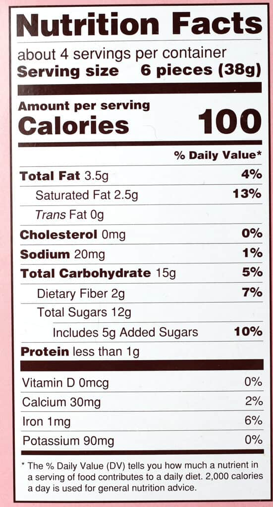 Trader Joe's Gone Berry Crazy nutritional information