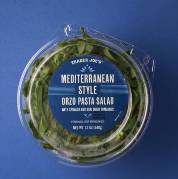 Trader Joe's Mediterranean Style Orzo Pasta Salad package
