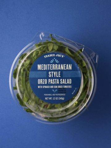 Trader Joe's Mediterranean Style Orzo Pasta Salad package