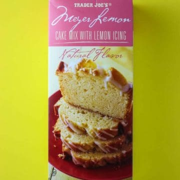 Trader Joe's Meyer Lemon Cake Mix with Lemon Icing
