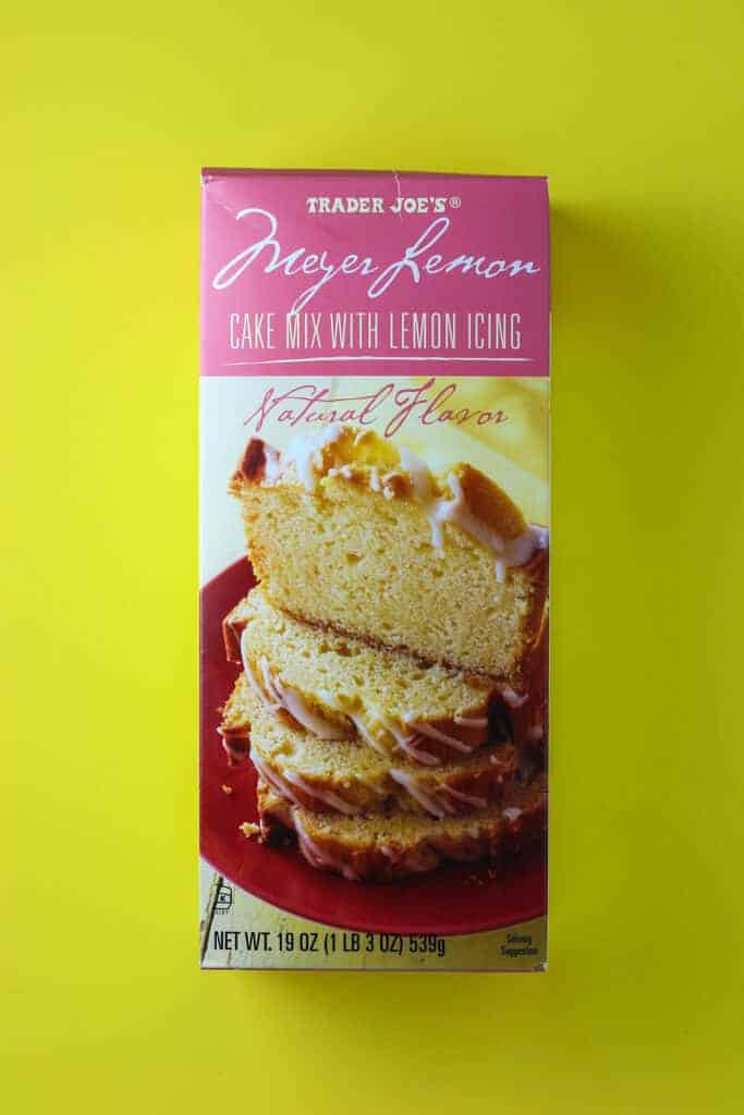 Trader Joe's Meyer Lemon Cake Mix with Lemon Icing box