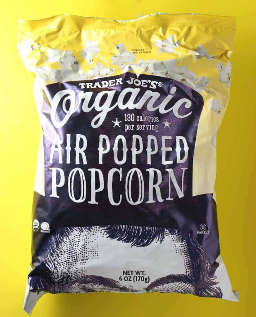 Trader Joe's Organic Air Popped Popcorn bag