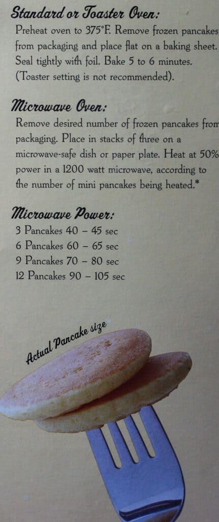 Trader Joe's Organic Silver Dollar Pancakes how to prepare