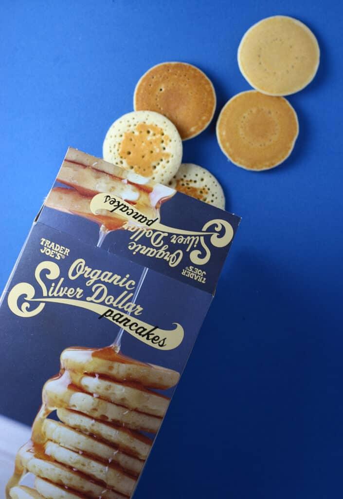 Trader Joe's Organic Silver Dollar Pancakes out of the box
