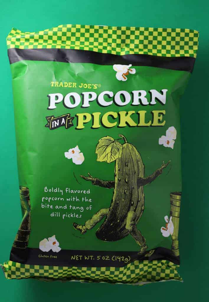 Trader Joe's Popcorn in A Pickle bag