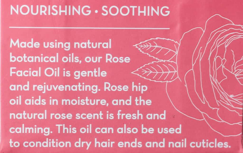 Trader Joe's Rose Facial Oil description