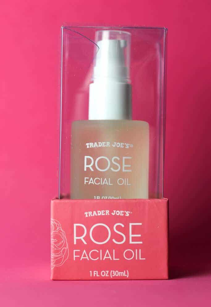 Trader Joe's Rose Facial Oil package