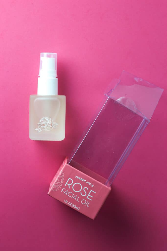 Trader Joe's Rose Facial Oil out of the package