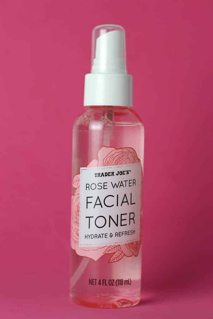 Trader Joe's Rose Water Facial Toner bottle