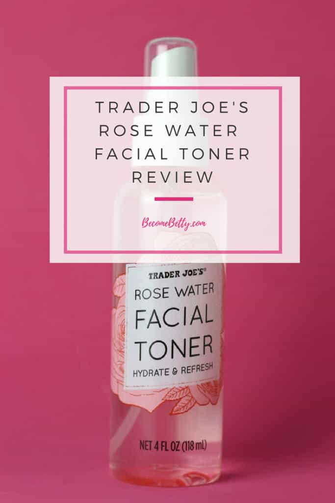 Trader Joe's Rose Water Facial Toner Review