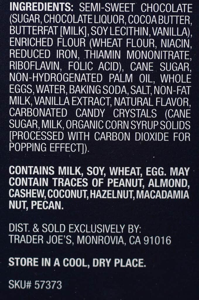 Trader Joe's Shooting Stars ingredients
