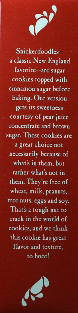 Trader Joe's Soft Baked Snickerdoodles description