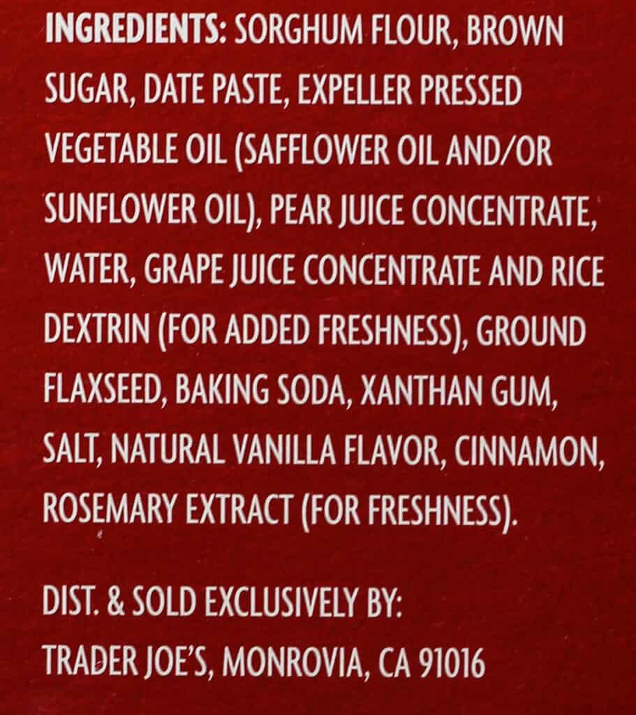 Trader Joe's Soft Baked Snickerdoodles ingredients